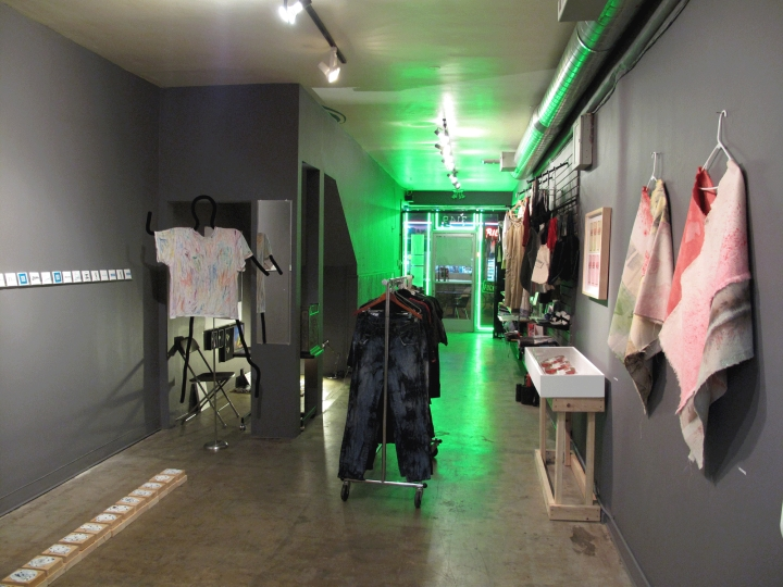 Artists Merchandising Art, Installation view, Wonderloch Kellerland Los Angeles 2012