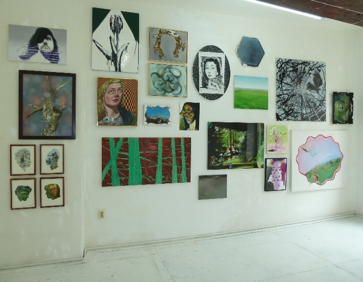 Painting was a Lady, curated by Heike Kelter. Wonderloch Kellerland 2012. photo courtesy WK 2012