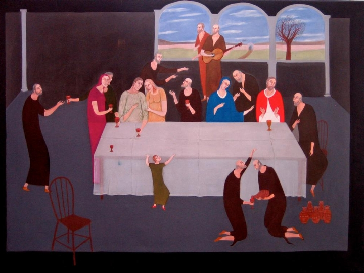 Bob Rutman The Marriage Feast at Cana 1985 Acrylics on Canvas 170 x 230 cm